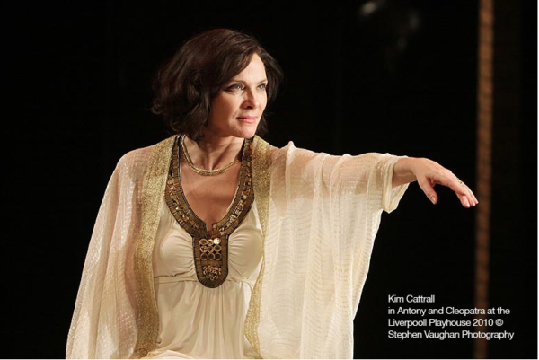 Kim Cattrall in Anthony & Cleopatra for the Liverpool Playhouse Wigs and Make up by Faye Aydin